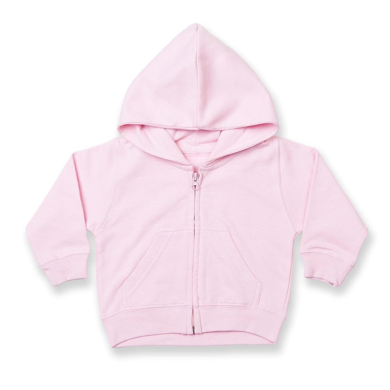 Larkwood Baby/Kids Zip Through Hooded Sweatshirt / Hoodie (3-4) (Navy) UTRW788_13