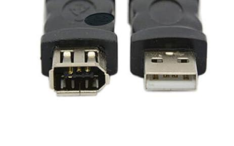 Amazon.com: Firewire Ieee 1394 6 Pin Female F To Usb 1.1/2.0 M Male ...