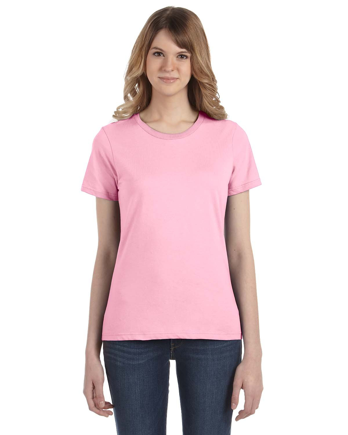 Anvil Womens Ringspun Cotton Fashion Fit T-Shirt-4LVS