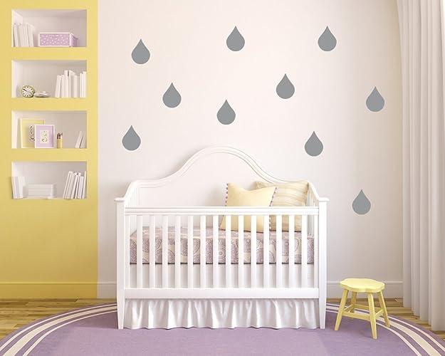 20 x teardrop raindrop shaped vinyl stickers decal mural bedroom nursery
