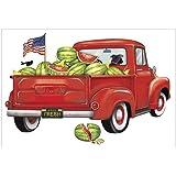 Mary Lake-Thompson Red Watermelon Truck Cotton Flour Sack Kitchen Towel