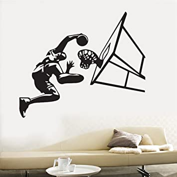 pegatinas de pared vinilo Home Decor Wall Sticker Basketball ...