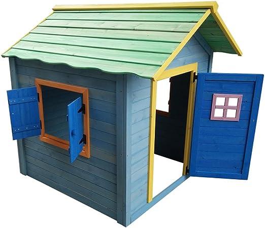 Casita de madera para niños, pintada, seguridad probada EN71 ...