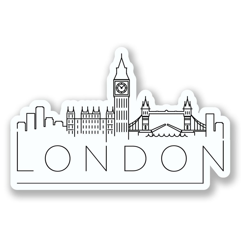 2 x 30cm- 300mm London England Vinyl SELF ADHESIVE STICKER Decal Laptop Travel Luggage Car iPad Sign Fun #6638