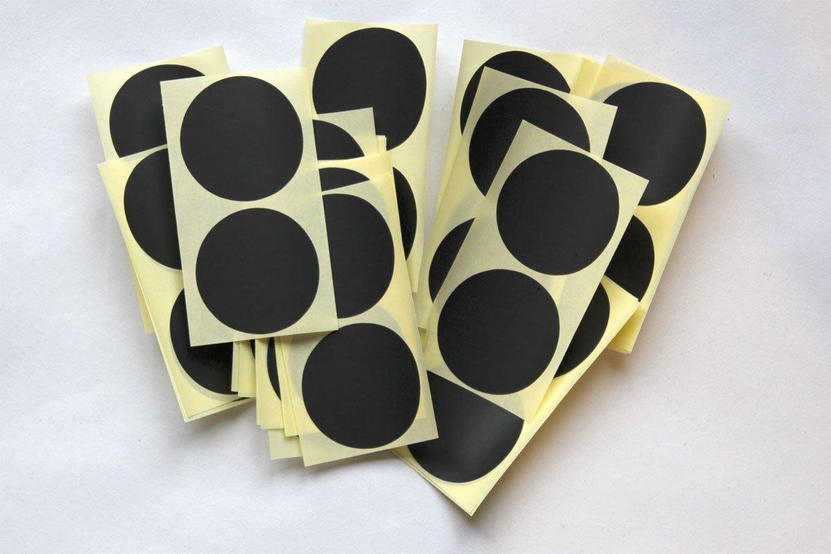 Noir Lot de 50 autocollants ronds Multicolore