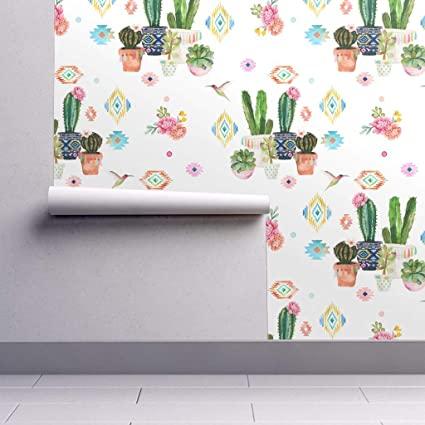 Peel And Stick Removable Wallpaper Cactus Bohemian Aztec