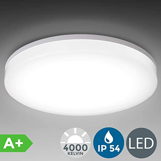 Plafón LED blanco/Panel LED de 24W: Lámpara de techo moderna ...