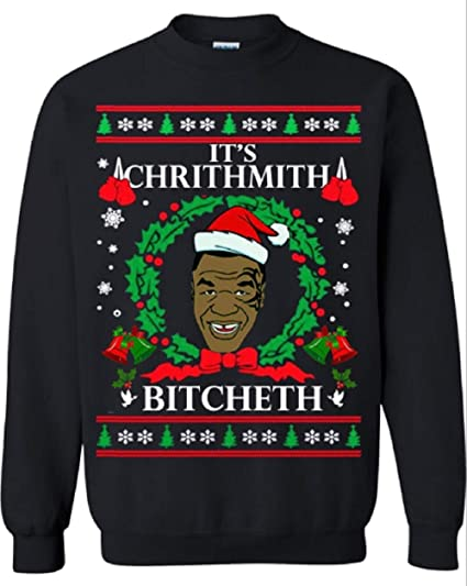 Amazoncom Thetshack Merry Chrithmith Bitcheth Mike Tyson Ugly