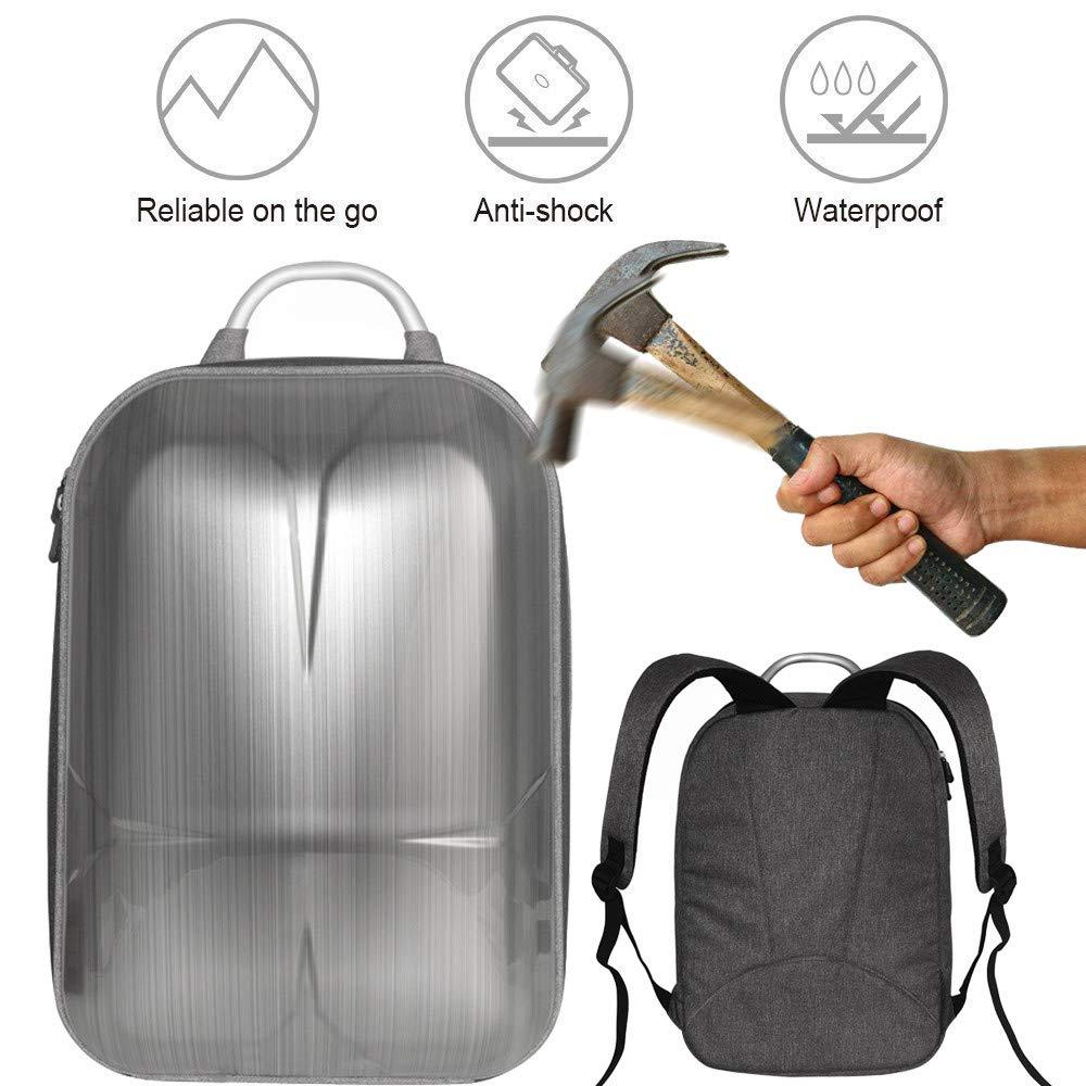 Alonea Portable Drone Bags, Hard Shell Carrying Case Backpack Bag Waterproof Anti-Shock for DJI Mavic 2 (Silver❤️)