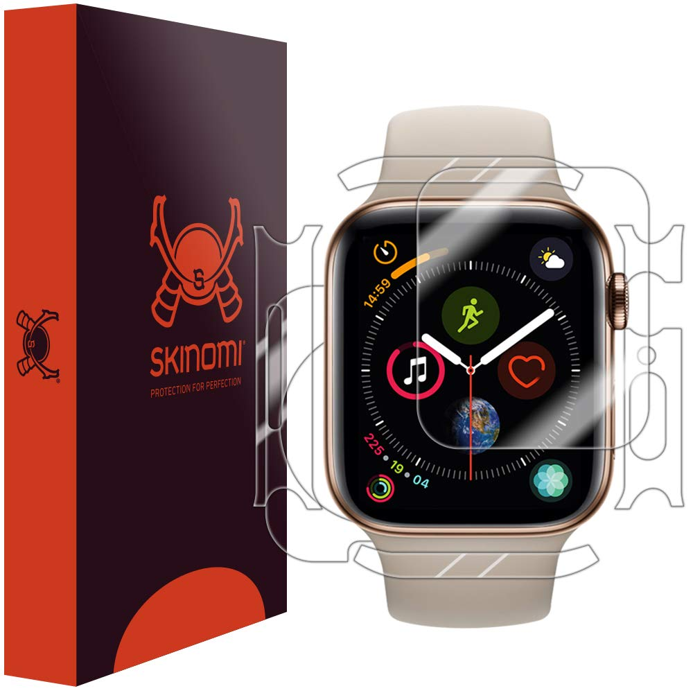 7a66a5606eb6 Skinomi Apple Watch Series 4 Screen Protector + Full Body (44mm)[3-Pack],  TechSkin Full Coverage Skin + Screen Protector for Apple Watch Series 4 ...