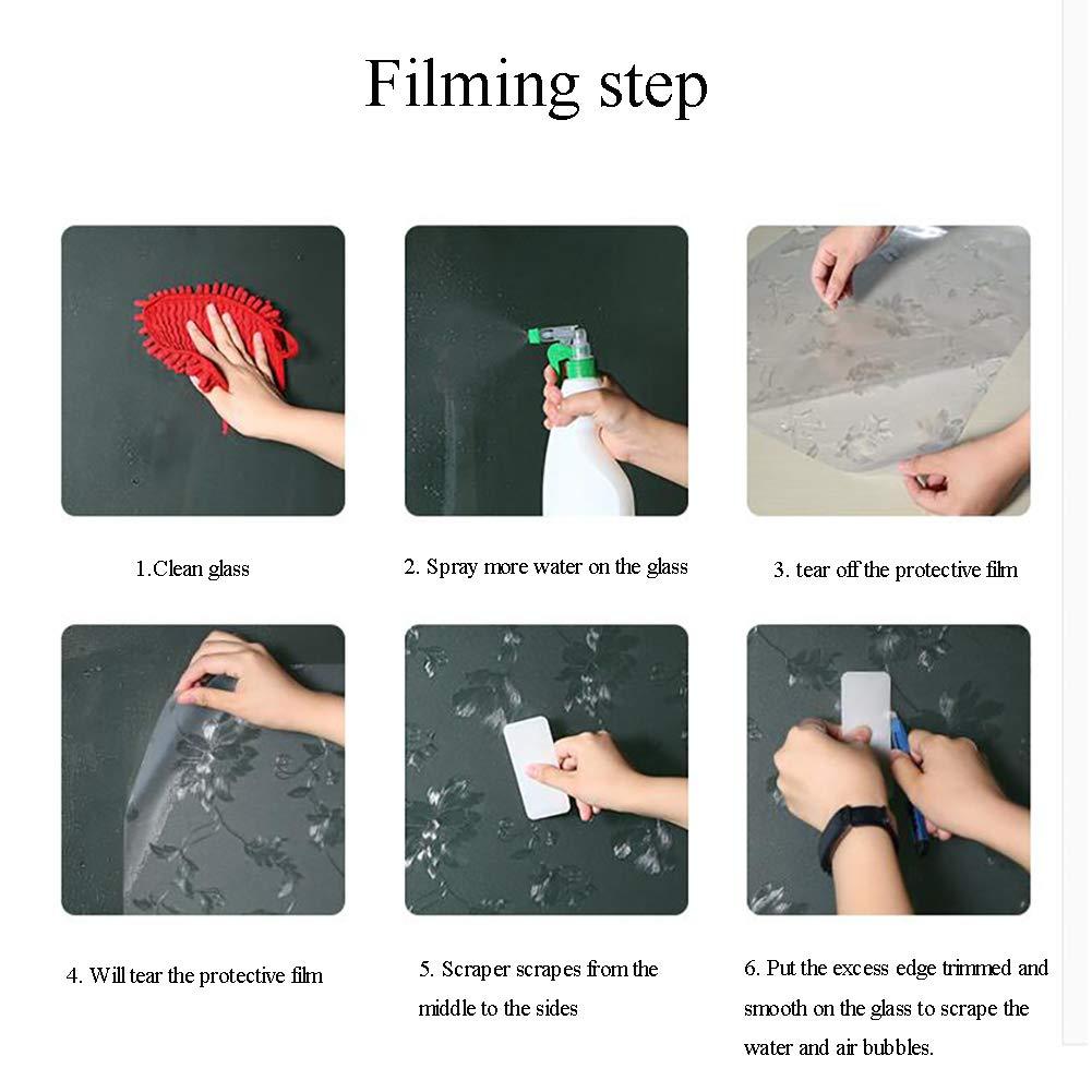 LoveGlass Pellicola Trasparente Vetro Statico,Non Adesivo Anti UV Vetro Smerigliato Film Bagno Scorrevole Porta Soggiorno E Adesivi Finestra-a 40x600cm 16x236inch