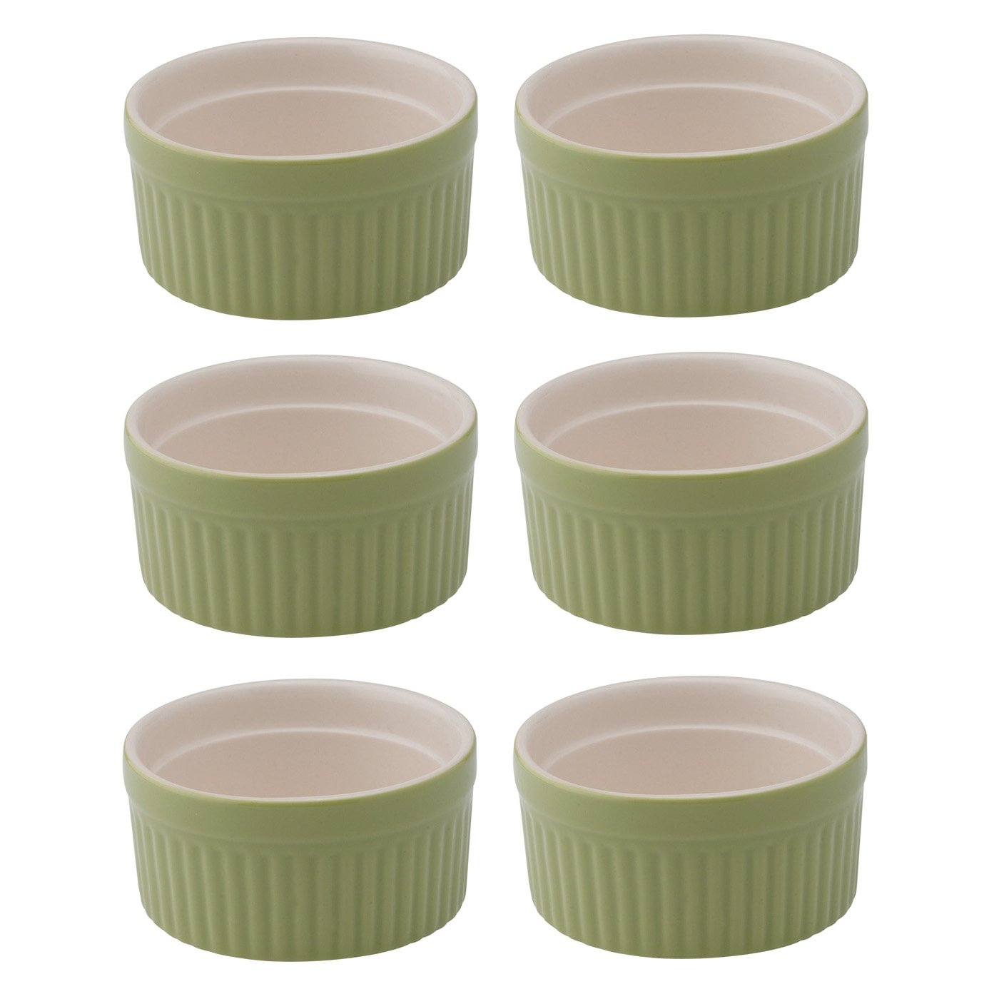 HIC Harold Import Co. 98005SG-HIC 6 oz Souffle Ceramic Sage Home Decor Products HIC Brands that Cook