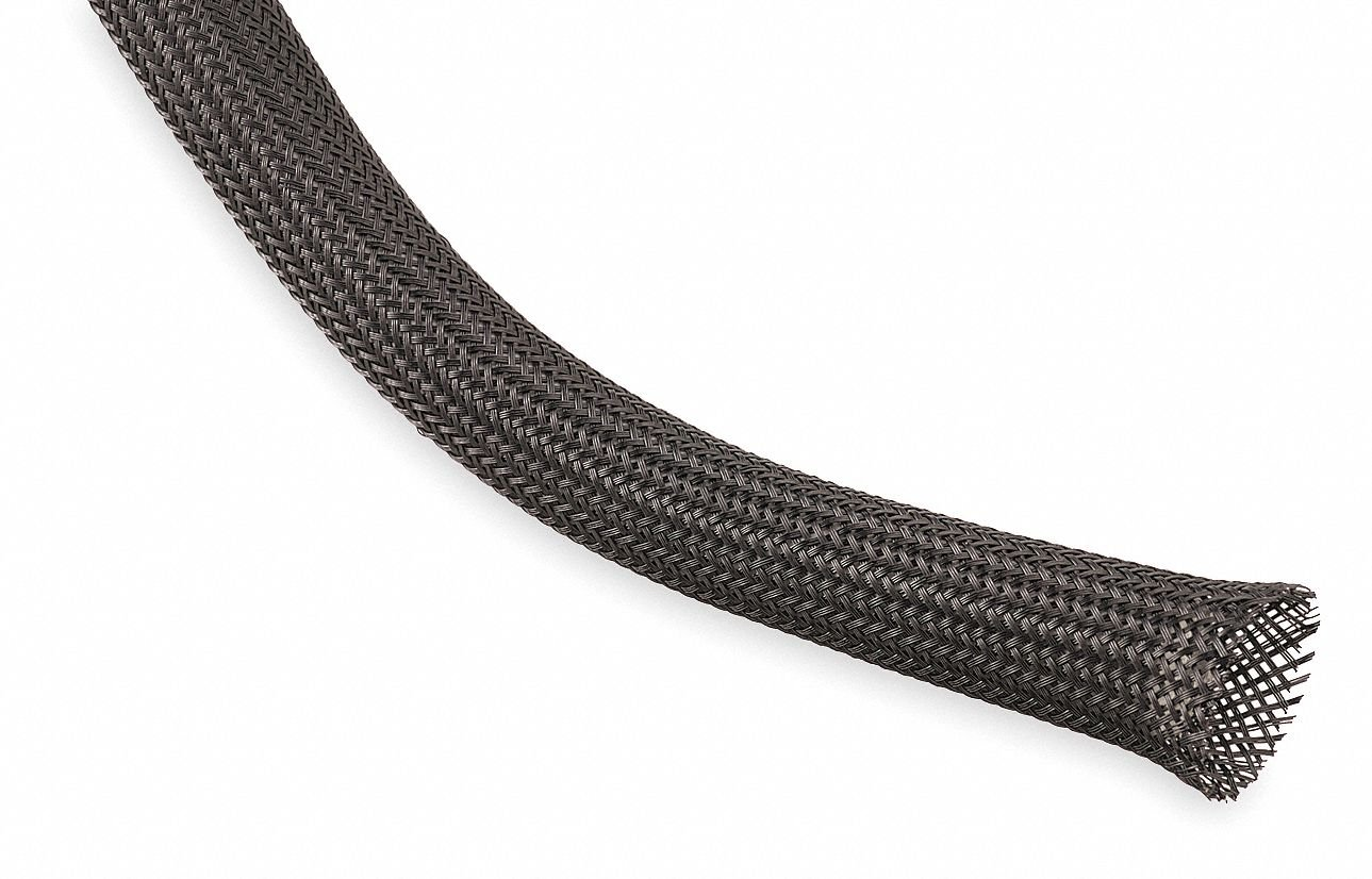 1//2 Inch Techflex braided expandable sleeving Nylon 25FT better than PET material
