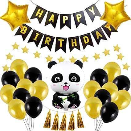 Amazon.com: Lbsel Cute cartoon panda styling balloons ...