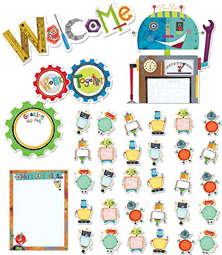 Creative Teaching Press Riveting Robots Bulletin Board Set (7049)