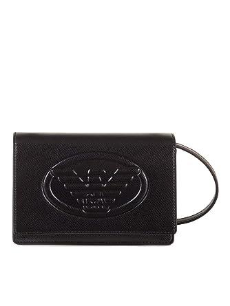 b20becae9360 Emporio Armani Femmes sac à bandoulière logo Noir Une Taille  Amazon.fr   Vêtements et accessoires