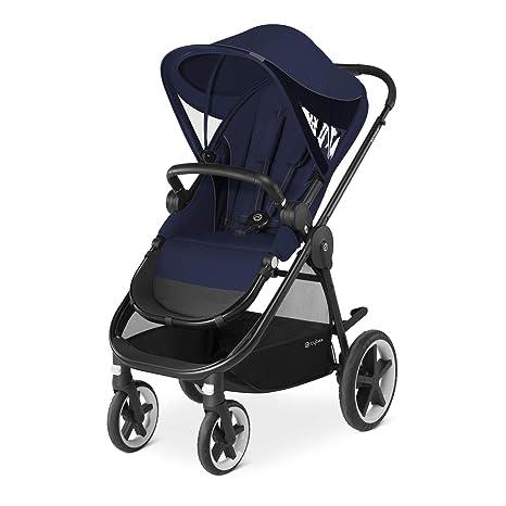 Cybex Balios M - Silla reversible y barra apoyabrazos, desde los 6 meses hasta 17 kg (aprox. 4 años), Azul (Denim Blue)