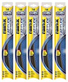 "Rain-X 5079272-2-5PK Latitude 2-IN-1 Water Repellency Wiper Blade, 14"" (Pack of 5)"