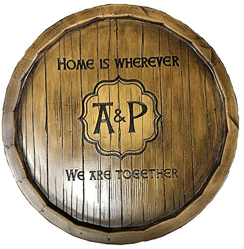 Wine Barrel Monogram and Personalized Lazy Susan by Piazza Pisano (Image #5)