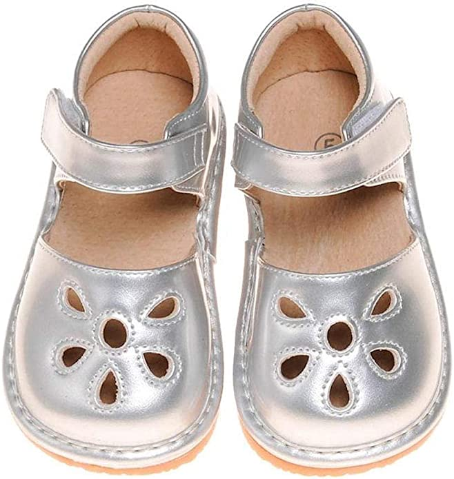 LilyPipSqueak Boutique Toddler Boys Squeaky Dress Shoes Brown-Free STOPPERS
