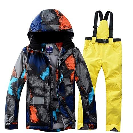 XFCMCP Traje de esquí Traje de esquí Hombres Invierno ...