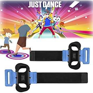 2 Pack Wrist Bands for Nintendo Switch Game Just Dance 2020, Adjustable Elastic Armband for Just Dance 2020/2019/2018/2017, Wrist Strap for Joy-Cons Controller, Two Size for Adults and Children