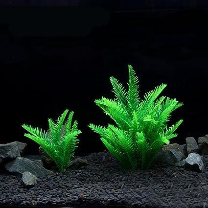 Verde Artificial simulación plantas respetuoso con el medio ambiente de plástico acuario Decoración Fish Tank vitalidad
