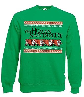 The Human Santapede Christmas Jumper Green Sweater Centipede (s ...