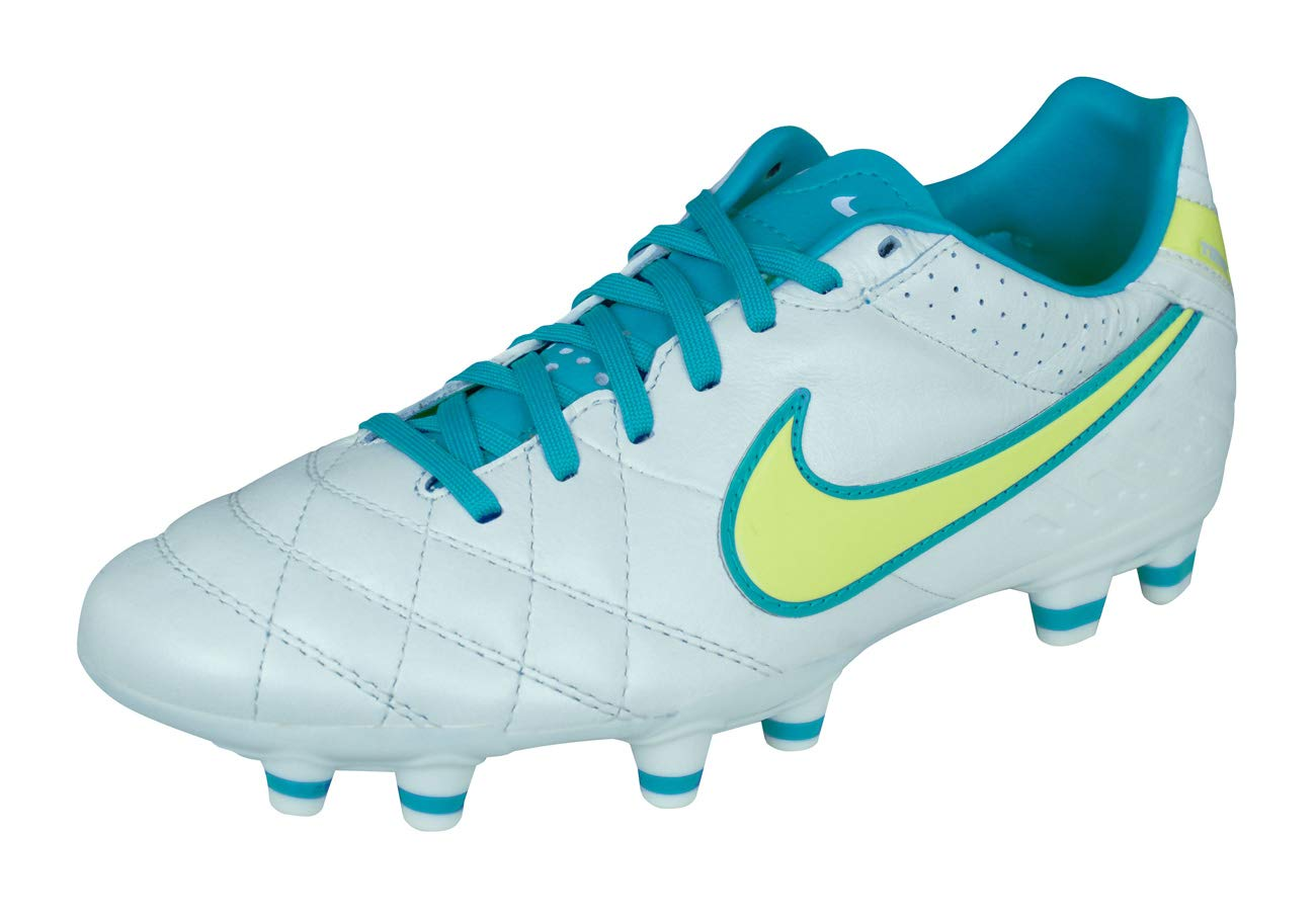 Nike Tiempo Mystic IV FG Womens Leather Soccer Cleats-White-8.5 by Nike