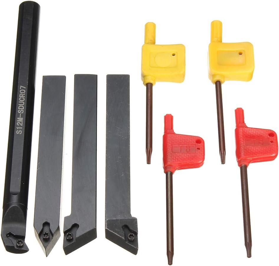 Shentesel 4Pcs 12mm S12M-SDUCR07 SDJCR1212H07 SDJCL1212H07 SDNCN1212H07 Boring Bar Set