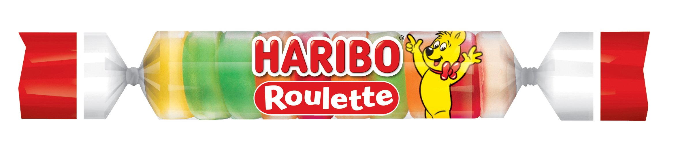 Haribo Gummi Candy, Roulette .87 oz. Roll, (Pack of 36)