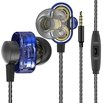 CplaplI - Auriculares in-Ear con Cable HiFi Dual Driver Bass Turbo Wide Sound Gaming