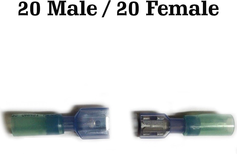 10-12 GAUGE 25 PK NYLON QUICK DISCONNECT MALE .250 AWG CONNECTOR CRIMP TERMINAL
