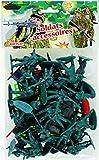 Cofalu 500 - Set de figuras de soldados de juguete y accesorios, modelos surtidos