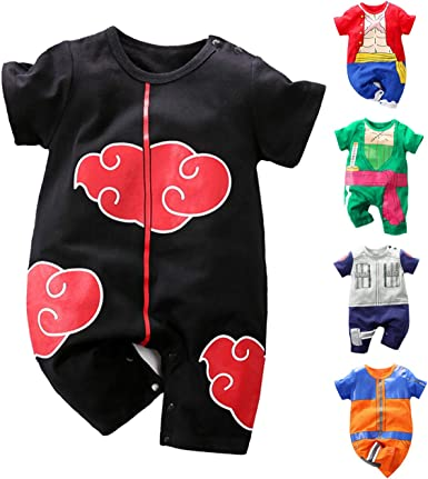 Newborn Romper Baby Boys Anime Costume Outfit Infant Halloween Jumpsuit with Hat