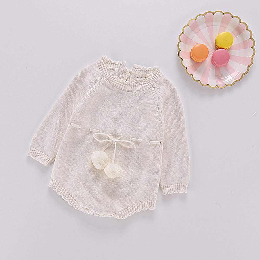 0-24 Months Newborn Baby Girls Boys Knitted Toddler Bodysuit Clothes Outfits Romper