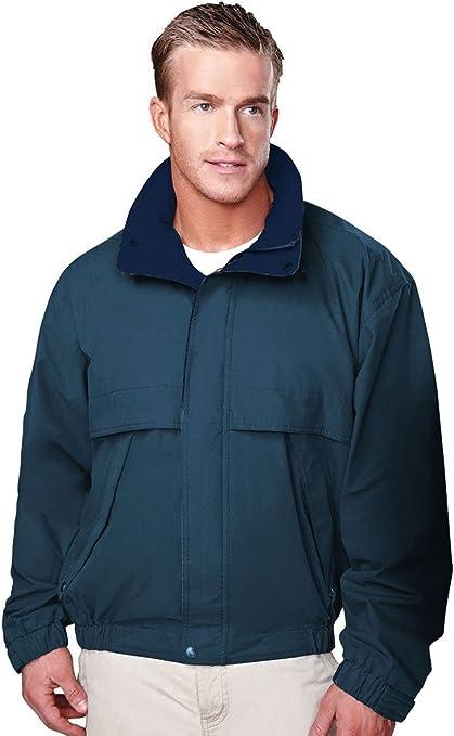5XL Tri-Mountain Mens Microfiber jacket with poplin lining BLACK