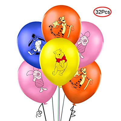 "Lsang 32PCS Winnie the Pooh and Friends Balloons Party Supplies 12"" Latex Balloons for Kids Baby Shower Birthday Party Decorations: Toys & Games"