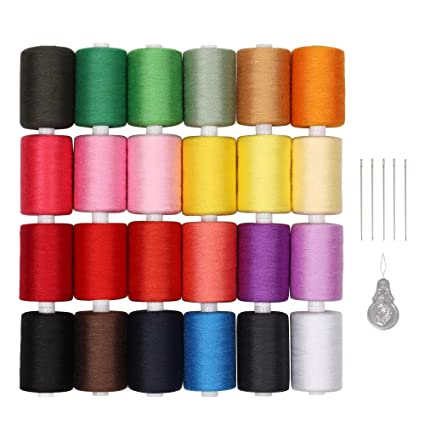 Amazon LIANTRAL Sewing Thread Kit Polyester Thread 40 Colors Custom Polyester Thread For Sewing Machine