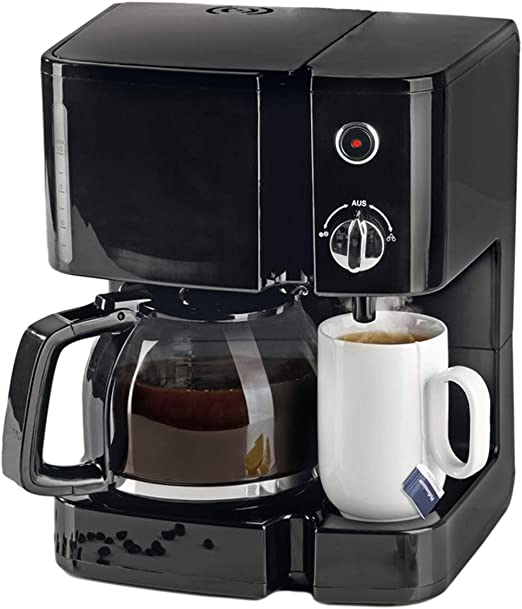 Cafetera y máquina de té Duo 2 en 1 – especialmente compacta café y tetera con jarra