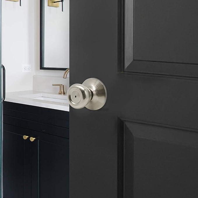 Door HANDLE FOCUS-R M91 Nickel Velvet WC Bathroom Bath Door Rosettes Set