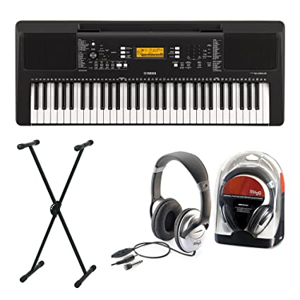 Yamaha 363 Keyboard Set I con soporte y auriculares