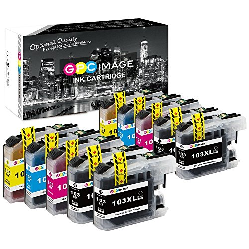 GPC Image Compatible Ink Cartridge Replacement for Brother LC103XL LC103 XL LC 103 for Brother MFC-J870DW MFCJ6920DW MFCJ4510DW MFCJ875DW MFC-J470DW 10 Pack (4 Black, 2 Cyan, 2 Magenta, 2 (10 Brother Ink)