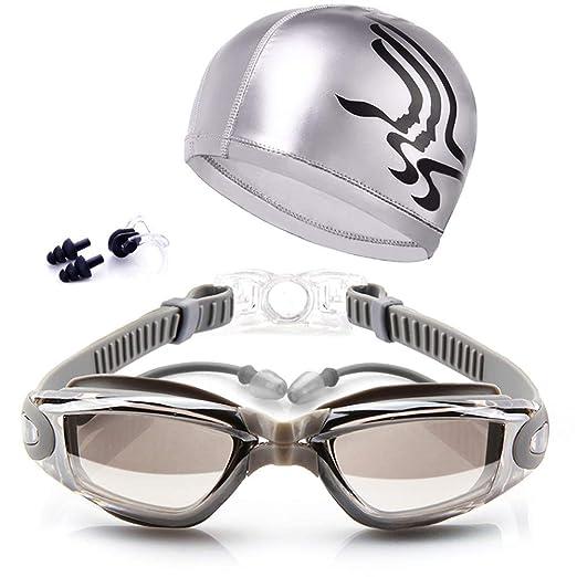AimdonR - Gafas de natación con Juego de Gorras, protección Anti ...