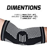 Elbow Brace Compression Sleeve - Arm Support for Tendonitis, Golf, Bowling, Tennis, Weightlift - Reduce Pain and Promotes Recovery! Medium