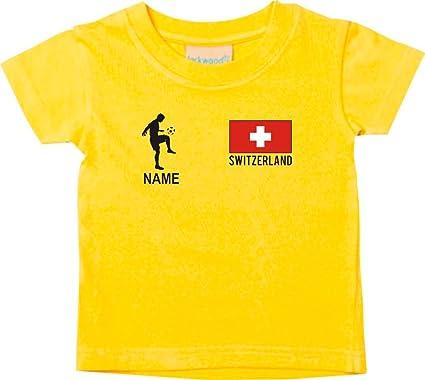 buy popular 946a8 42541 Kinder T-Shirt Fussballshirt Switzerland Schweiz mit Ihrem ...