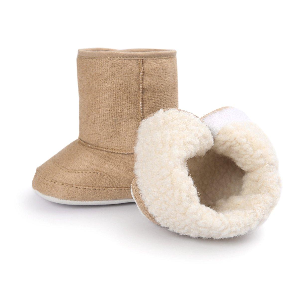 Zapatos de bebe Invierno Fossen Botas de nieve de suela suave para Reci/én Nacido ni/ños ni/ña Primeros Pasos