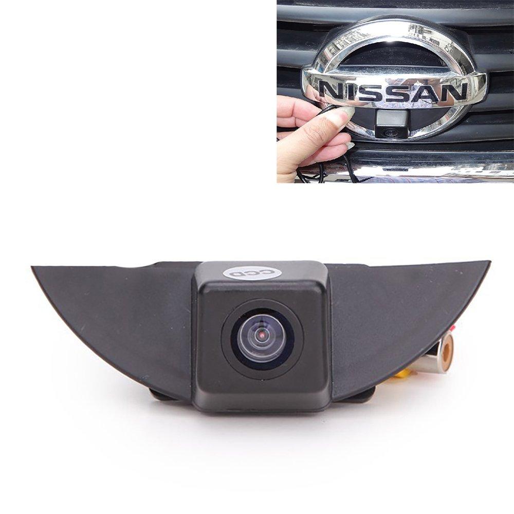 Cámara de vista frontal del coche Logotipo Cámara frontal incorporada para Nissan X-Trail Tiida Qashqai Livina fairlady Pulsar Cube Armada Frontier ...