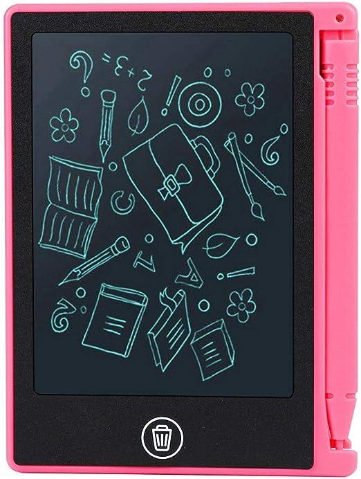 4.5インチLCDライティングタブレット、電子描画タブレットグラフィックス描画手書きパッド、デジタル消去可能な子供用ライティングボード、子供用大人ホームスクールオフィスファミリー(赤)