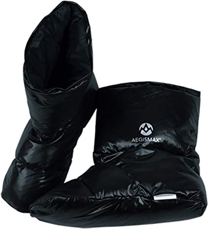 Pair Men Women Warm Camping Slipper Soft Winter Booty Booties with Carry Bag